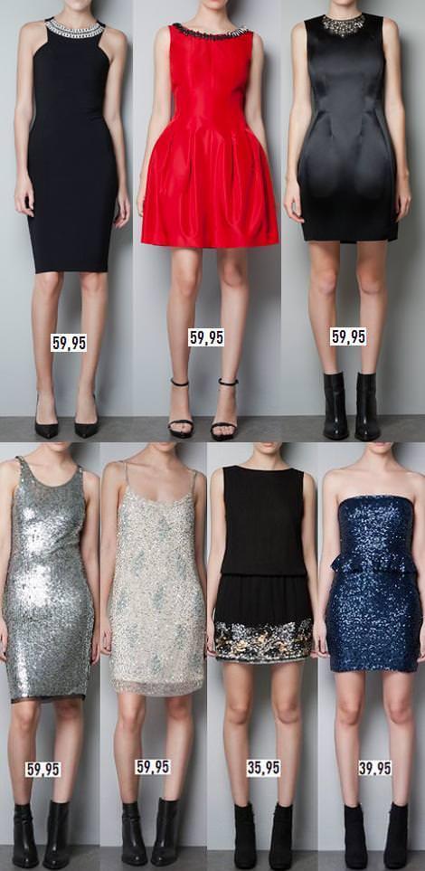 Vestidos de fiesta para Navidad y Nochevieja 2012