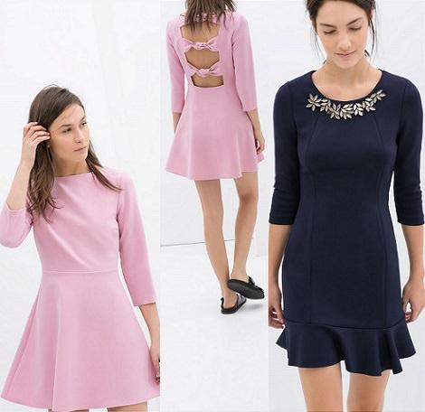 vestidos de fiesta cortos de zara 2014