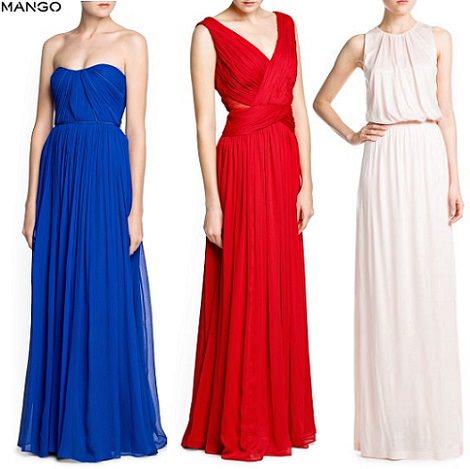 vestidos de fiesta largos de mango 2014