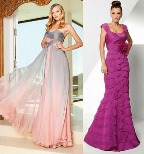 Vestidos de fiesta para bodas 2012