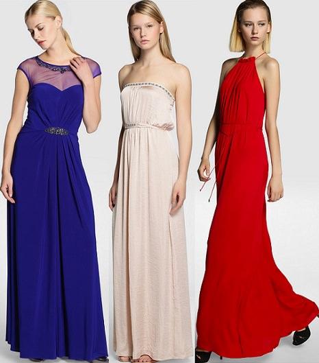 vestidos de fiesta azules de el corte inglés otoño invierno 2014 2015