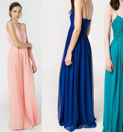 La diseñadora Rosa Clará apuesta por los vestidos de fiesta largos para vestir a las invitadas de las bodas de Los vestidos cortos y los de corte medio también están presentes en su colección,aunque en menor medida.