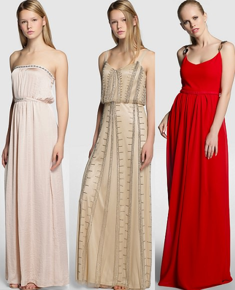 vestidos de fiesta rojos de Tintoretto otoño invierno 2014 2015