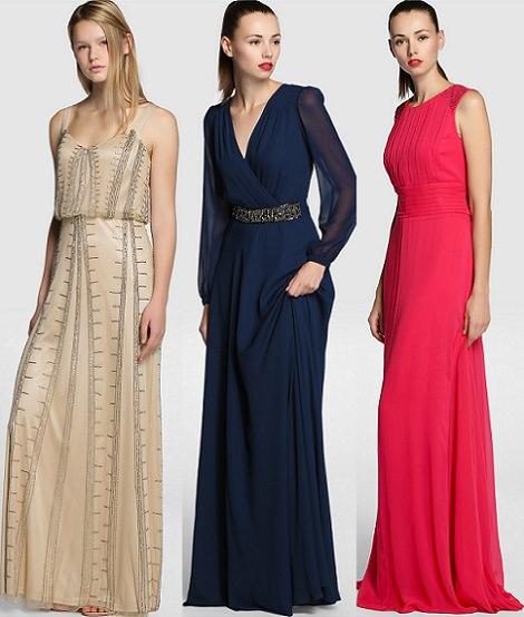 Vestidos de fiesta coleccion otono invierno 2014