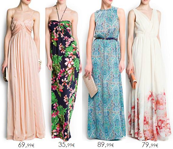Vestidos largos primavera verano 2013