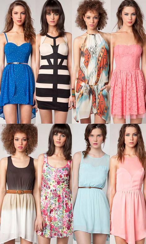 Vestidos primavera verano 2012 de Bershka