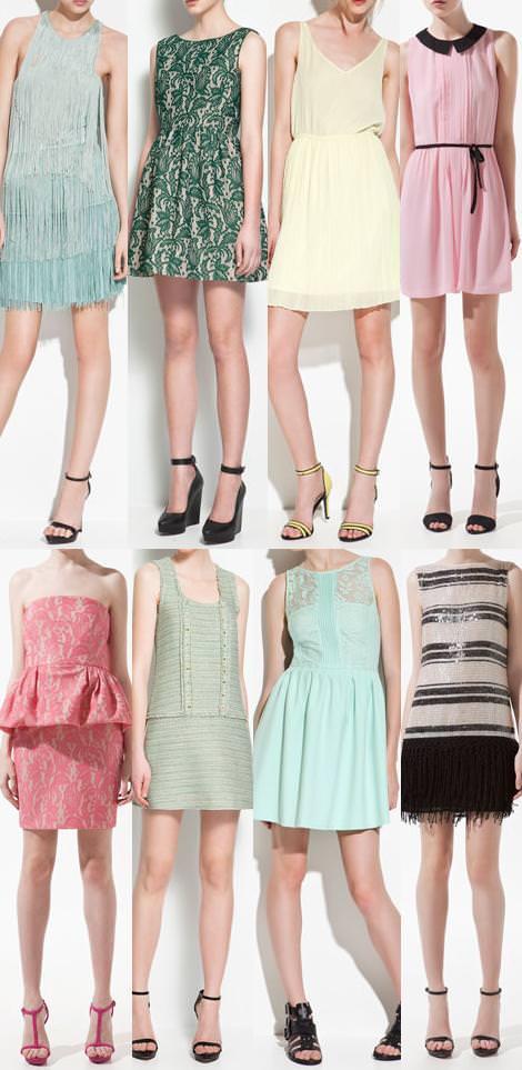 Vestidos primavera verano 2012 de Zara