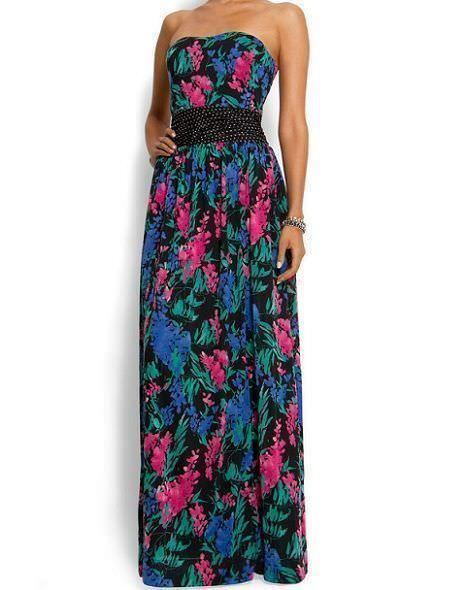 vestidos de rebajas de flores largo