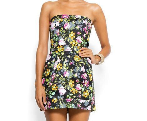 vestidos de rebajas de flores de mango