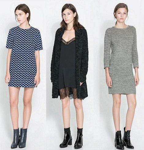 vestidos de tendencia otoño invierno 2013 2014 zara
