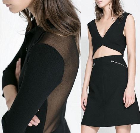 vestidos de transparencias otoño invierno 2013 2014 zara
