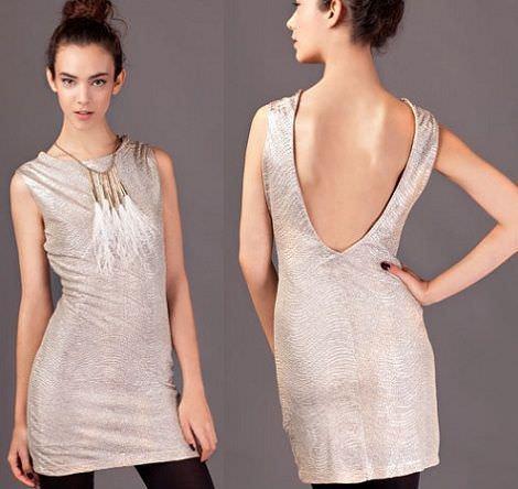 vestidos de fin de año con escote en la espalda