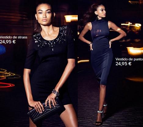 vestidos baratos de fiesta de H&M invierno 2014
