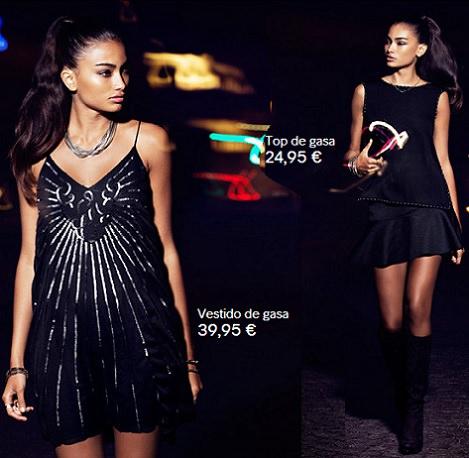falda de fiesta de H&M invierno 2014