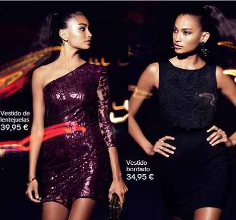 vestidos de fiesta de lentejuelas de H&M invierno 2014