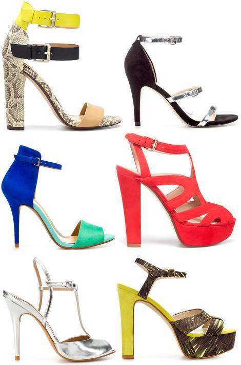Sandalias de fiesta primavera verano 2012 de Zara