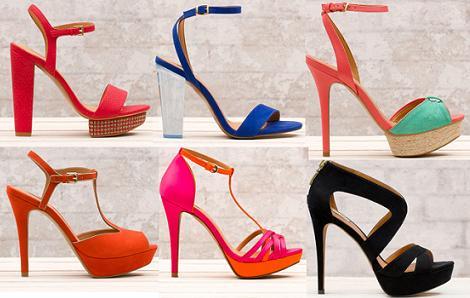zapato fiesta color naranja:
