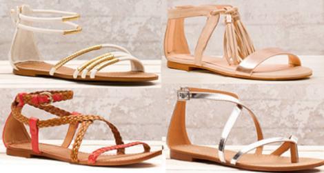 Sandalias planas del verano 2012 de Stradivarius