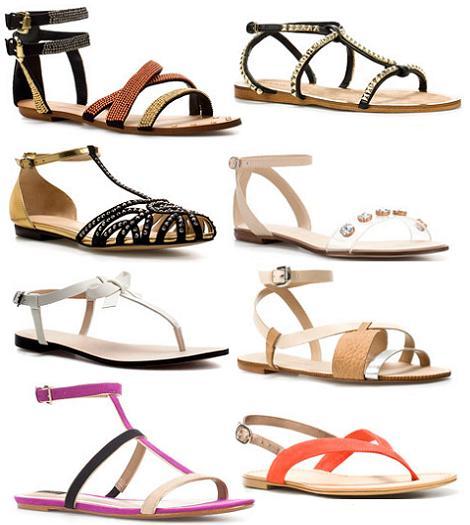 Sandalias planas del verano 2012 de Zara