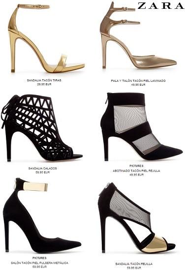 Zapatos y bolsos de fiesta para lucir esta Navidad 2013 zara
