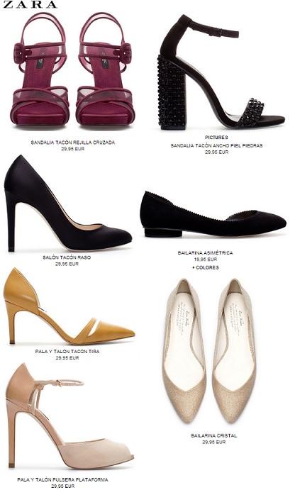 Zapatos y sandalias de zara por menos de 30 euros