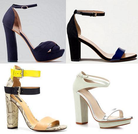 Zapatos de fiesta 2012 con tacones anchos