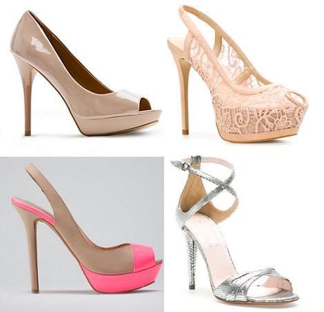 Zapatos de fiesta 2012 con tacones finos