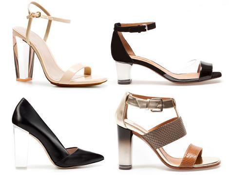 Zapatos de fiesta 2012 con tacones metacrilato