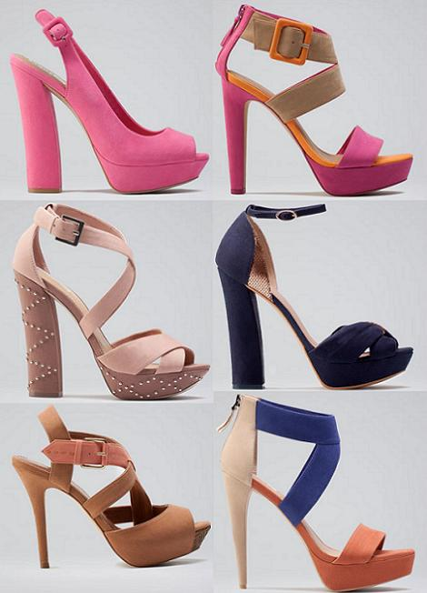Zapatos de fiesta primavera verano 2012 de Bershka