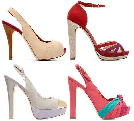 Zapatos de fiesta primavera verano 2012 de Blanco