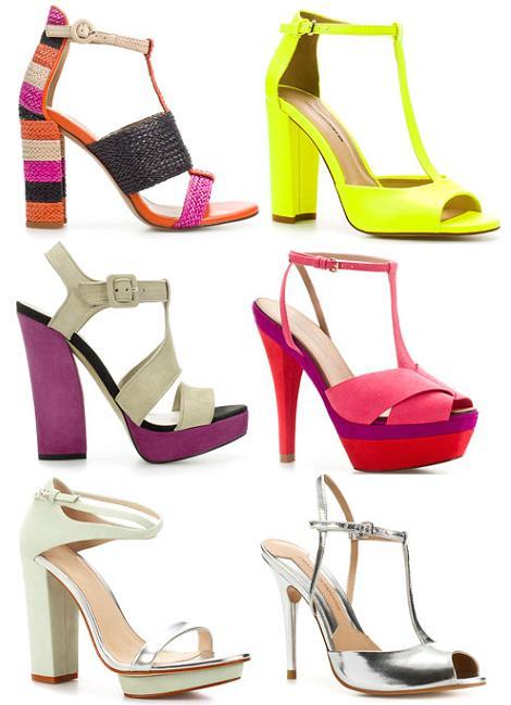 Zapatos de fiesta primavera verano 2012 de Zara