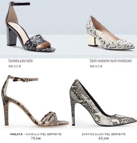 zapatos print de serpiente primavera verano 2014