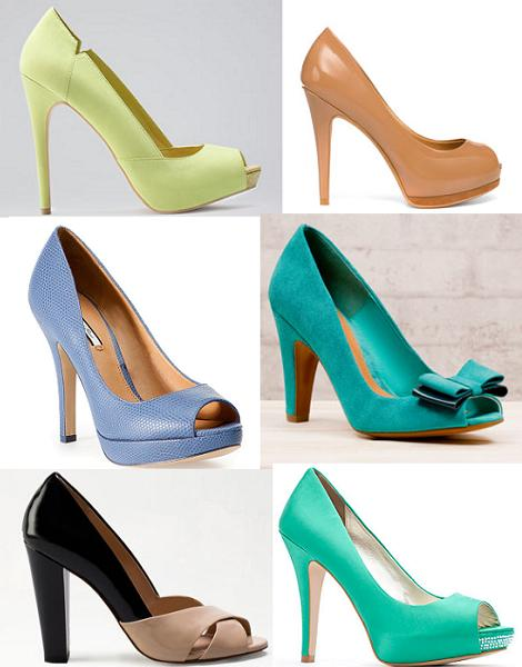 Zapatos primavera verano 2012 : peep toe