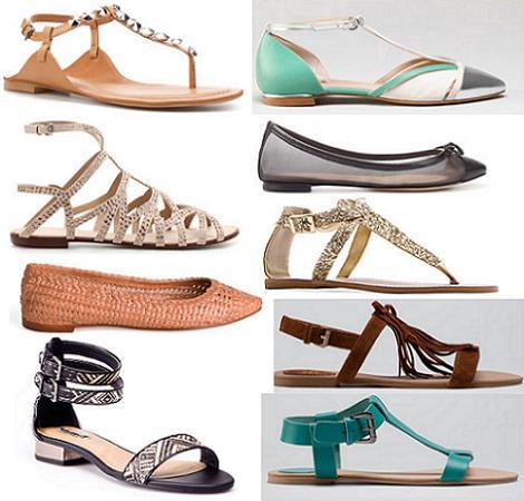 Zapatos primavera verano 2012 : planos