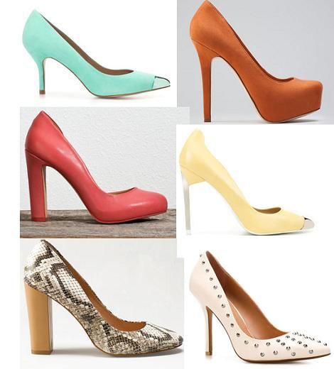 Zapatos primavera verano 2012 : salones
