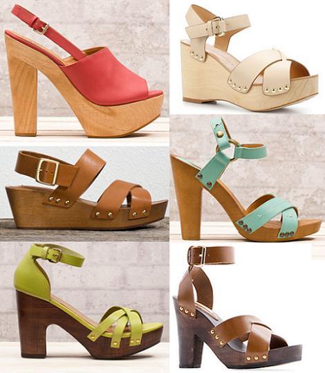 Zapatos primavera verano 2012 : zuecos y sandalias de madera