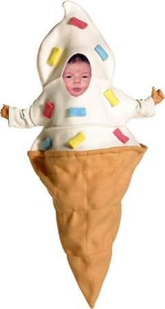 helado de cucurucho, disfraces de bebes