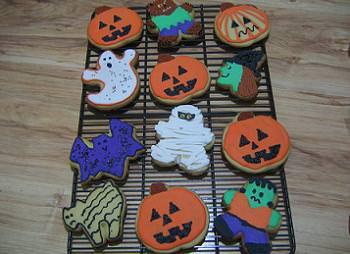 galletas con formas de halloween