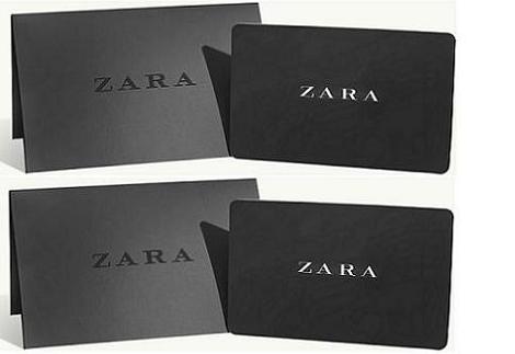 Sorteo 2 tarjetas regalo de Zara