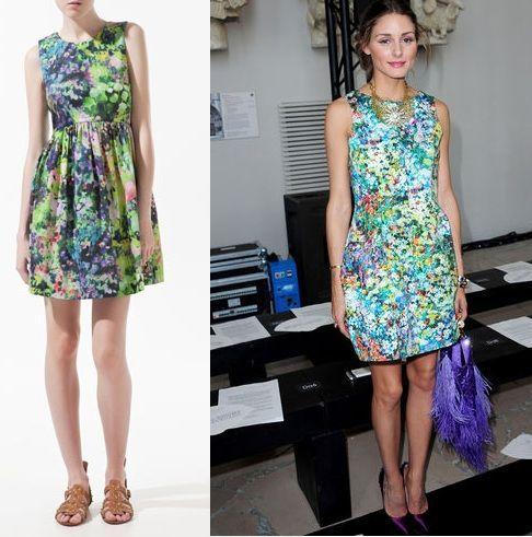 clones primavera verano 2012 vestido flores zara