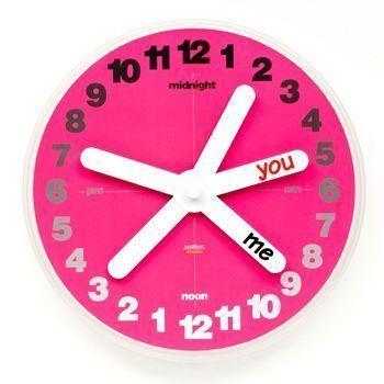 reloj pared san valentin