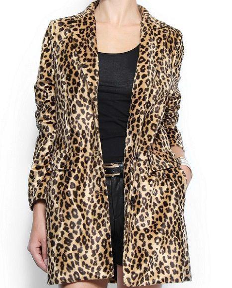 abrigo de leopardo de Mango