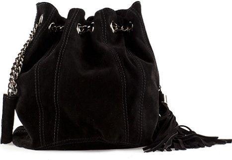 bolso negro de piel de bershka
