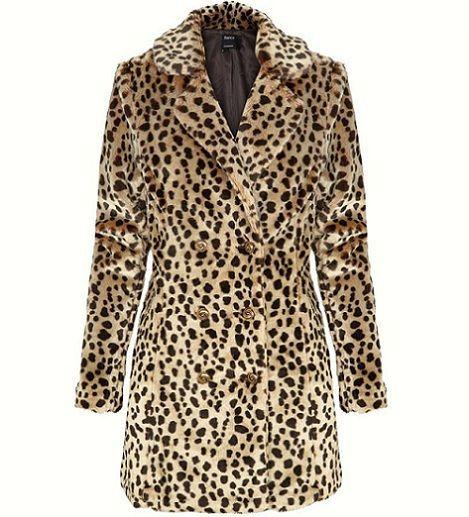 abrigo de leopardo de Blanco