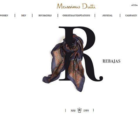 seleccion de prendas y accesorios rebajados en Massimo Dutti