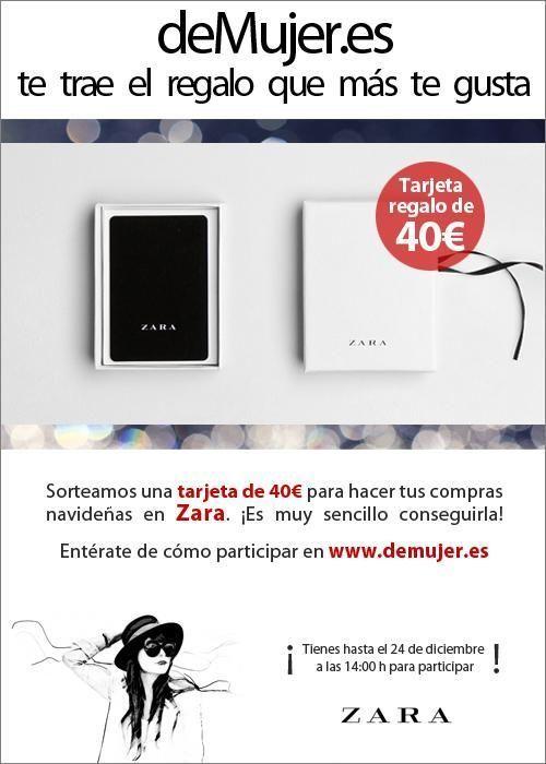 deMujer.es sortea una tarjeta regalo de Zara con 40 euros